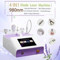Portable 980nm диодная лазерная сторона сосудистого лечения 980nm Spider Vein Удаление красоты машина ногтей грибок удаление физиотерапии инструменты