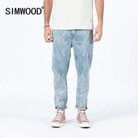 Simwood 2020 Yaz Yeni Lazer Yıkama Kot Erkekler Moda Rahat Konik Ayak Bileği Uzunlukta Denim Artı Boyutu Pantolon SJ1202571