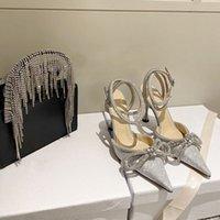 2021 Женская одежда Обувь Bling Blings Blings Sequins Caels Свадебные Насосы Насосные Насосы на высоком каблуке Свадебное Свадебное Свадьба Алмаз Благодаря Блеск Машина