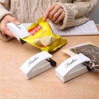 Mini portátil Pressão Calor Selagem de viagem mão Household Impulse Sealer Seal Embalagem Tools Plastic Bag Food Saver armazenamento VT1919
