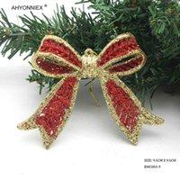 1шт блеск лук цвет пластиковый рождественские украшения елки размером 9,5 см рождение дерева висит украшения украшения для домашней вечеринки