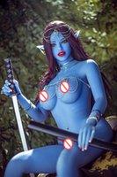 Реальные силиконовые секс-куклы реалистичные груди влагалище задницу киска сексуальная кукла 158см взрослый синий эльф TPE металлический скелет мастурбация секс игрушка любовь куклы