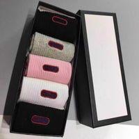 Klassieke Brief Sok met Doos Stijlvolle Cirkel Katoenen Sokken Vrouwelijke Mode Sok Kousen Sport Sokken Hosiery Women Socks