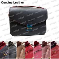 Bolso de hombro de moda para mujer 25 cm Metis Bolso con mango de correa de cuero genuino Crossbody Bolsos Messenger Design Bag 40780