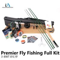 Rod Reel Combo Maximumcatch Premier Avid 8'6 '' / 9 '3-8WT Complete Line Hooks Accessoire Volledige Fishing Kit