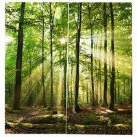 Floresta de bambu impresso cortinas blackout para cortinas de janela de quarto para sala de estar 85% sombreamento 3d altura 200cm largura 170cm1