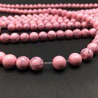 1 الرطاط 4 6 8 10 10 12 ملليمتر جولة الخرز الطبيعي الوردي الفيروز فضفاض فاصل سحر الخرزة للمجوهرات صنع diy القلائد أساور h jllfbn
