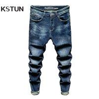 Männer Jeans Kstun Slim Fit Männer Stretch Blau Mode Herren Marke Casual Denim Hosen Kleidung Männliche lange Hose Großhandel
