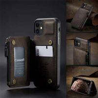 3 in 1 Portafoglio in pelle RFID Case Case Case per iPhone 12 Mini Pro Max 11 Pro XR X XS Max 8 7 Plus per Samsung S30 S20 Nota20 Ultra