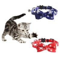 Mode Haustier Hund Katze Kragen Amerikanische Flagge Druck Halskette für Kleines und mittlere Hund Pet Pentagram Kragen Pflegezubehör1