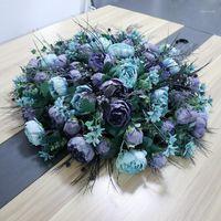 Original Semi-circular Hui Yi Zhuo Hua Simulação Outono Peônia Hotel Round Table Flor Fase Decoração Disco Size1