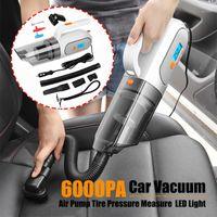 120W 6000PA портативный автомобильный вакуумный очиститель, 4 в 1 портативный вакуумный очиститель воздушный насос измерение давления шин и светодиодный свет1