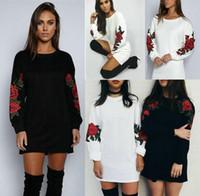 Мода осени зима женщины Hoodie Jumper пиджаки Повседневный длинный рукав Толстовка пуловер платье Повседневный стиль