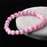 Vinswet браслет кошачий глаз 6 Цвет натуральный камень бисер браслеты для женщин Мужчины Пара Дружба Мужской Женский