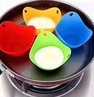 Силиконовые яйца браконьера чашек Яйцо Mold Чаша Rings Плита котла Кухня Кулинария Инструменты 4 ЦВЕТА KKA8121