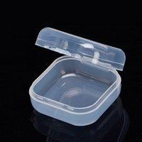 صغير صغير مستطيل مستطيل حبة الخرزة حالات تخزين مربع القضية مع غطاء مغلق للخرز، مجوهرات، سدادات، وأكثر من ذلك
