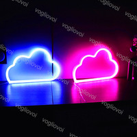 LED Neon Sign Light Smd2835 Noite Interior Nuvem Rosa Vermelho Branco Verde Modelo Feriado Decorações De Casamento Decorações De Casamento Lâmpadas