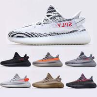 Melhor Qualidade Linho Asriel Kanye Running Shoes Abez Reflexivo Elada Moda Yecheil Estático GID GID GLOW ZEBRA MENS Femininas Tênis Treinadores 36-47