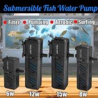 110-120V 220-240V 4 в 1 Водяные насосы для водяных насосов Вода / фильтр / увеличение кислорода / Волна, изготовление погружного погружного насоса для аквариумных рыбных аквариумов POND Y200922