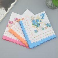 Mulheres Trabalhos 100% algodão Floral Flor Hankie Flor Bordado Handkerchief Colorido Senhoras Toalhas De Bolso Toalhas Festa De Casamento Favor 169 G2