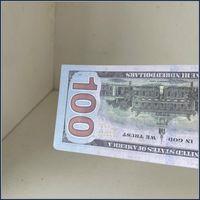 2020 heiße Requisiten Dollar Banknote Neue Fälschung 02 Billet Film Geld verkaufen Bildungsbar US 5 Dollar 100 Spielzeug Lernen Geld KLPLF