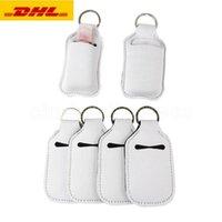 DHL Nakliye 30 ml Süblimasyon Boş Neopren Parfüm Şişe Tutucu SBR El Temizleyici Şişe Set Beyaz Parfüm Şişe Tutucu Anahtarlık Hediye
