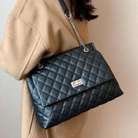 Lattice grande bolsa de lona 2021 moda nova de alta qualidade PU couro feminino designer bolsa de alta capacidade do ombro mensageiro
