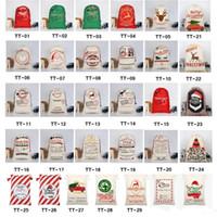 2020 أكياس هدية عيد الميلاد كبيرة عضوية الثقيلة قماش حقيبة سانتا كيس الرباط حقيبة مع الرنة سانتا كلوز كيس أكياس للأطفال FY4249
