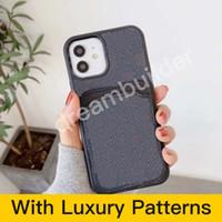 Cas de téléphone de mode pour iPhone 12 Pro Max 11 7 8 Plus x xR xs max avec couverture arrière de la carte pour Samsung Galaxy S10P S20 S20U Note 10 20 U