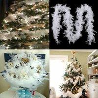 5 шт. 2 м Рождественская елка белое перо Боа висит перо боа ленты гирлянда рождественское дерево дома танцует вечеринка DIY DEAL STARTY Y201006