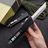 뜨거운! MT Hellhound 블레이드 자동 전술 나이프 D2 Tanto Point Stone 세척 블레이드 6061-T6 손잡이 EDC 포켓 칼