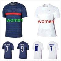 20 21 POGBA Griezmann Griezmann Futbol Forması Ulusal Takımı Pavard Varane Fransız 2020 2021 Kadın Futbol Üniforması Gömlek Camiseta de Futbol