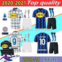 Inter Milan 20 21 de LUKAKU LAUTARO SKRINIAR maillots de football 2020 2021 inter milan uniformes du kit de maillot de football ALEXIS PERISIC SENSI BARELLA ERIKSEN BROZOVIC