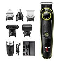 Kemei KM-696 5 en 1 Couple de cheveux multifonctions Coup de cheveux professionnel Tondeuse à cheveux de la barbe électrique Machine de coupe1