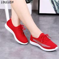 Çizmeler Loulluen 2021 Moda kadın Bayanlar Rahat Kaymaz Spor Yürüyüş Sneakers Koşu Yumuşak Ayakkabı Roma Laarzen Bottes Mujer1