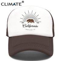 CLIMA California Trucker Cap Bear in California Republic Flag Cappellini Uomo Donna Hip Hop divertente cappello fresco berretto da baseball Mesh CapX1016 Estate