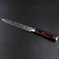 5Inch Dauerhaft Küchenmesser Chefmesser Damaskus Edelstahl Küchenmesser Holzgriff Sharp Cleaver Schneiden Messer Geschenk DBC DH1478
