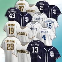 Personalizado 23 Fernando Tatis Jr. Jersey 19 Tony Gwynn 4 Wil Myers 13 Manny Machado 8 Javy Guerra Garrett Richards Joey Lucchesi Baseball Jerseys