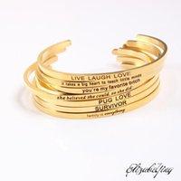 Bangle 2021 316L из нержавеющей стали положительный вдохновляющий цитата манжеты браслеты 3 мм мантры браслеты для женщин1