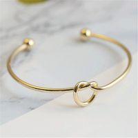 Узел сердца браслет открытые регулируемые браслеты браслеты браслеты женские мода ювелирные изделия золото будет и песчаный подарок