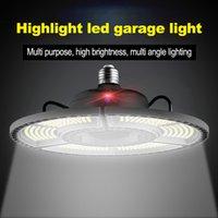 Depo için toptan E27 LED Deforme Katlama Garaj Lamba Süper Parlak Endüstriyel Aydınlatma 60W 80W 100W UFO yüksek tavan endüstriyel Lambası
