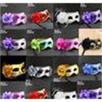 Kadınlar Seksi yortusu Venedikli Yarım Maske Masquerade Maskeler Çiçek Tüy Dans Partisi Tiyatrosu Prop Topu Düğün Bayram Renkli Maske