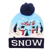 LED Christmas Hat Sweater Knitted Beanie Christmas Light Up Knitted Hat For Kid Adult For Party New Year Decorations