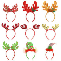 1pc Antlers Hat Headband Chrsitmas Decoration Hair Hoop For Kids Adult Headwear Reindeer Ornaments Xmas Party Props New Year