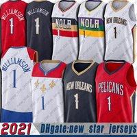 Zion 1 baloncesto Williamson Jersey Lonzo 2 Ball Jerseys New 2021 City Basketball Uniforme