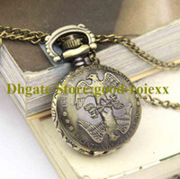 Мода оптом подарок винтажный орел женские мужчины карманные часы ожерелье аксессуары свитер цепи дамы висит мужские кварцевые часы AA00167