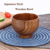 النمط الياباني خشبي السلطانية ملعقة حساء سلطة الأرز السلطانيات رامين عاء الخشب الطبيعي أدوات المائدة رائعتين النمط الياباني h jlluog