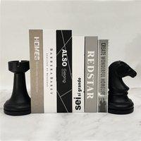 2PS 크리 에이 티브 수지 북부 입상 체스 모델 도서 스탠드 장식품 홈 오피스 연구 책장 장식 유럽 스타일 JSYS T200710