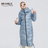 Miegofce Yeni Kadın Kış Pamuk Giyim Uzun Pamuk Ceket Basit Tasarım Kadın Ceket Kış Parka Windproof Ceket 200928