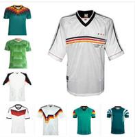 1988 1990 1992 1992 1996 1998 2004 ألمانيا الرجعية لكرة القدم جيرسي 96 98 الكلاسيكية العتيقة خمر لكرة القدم قميص بوبيك Kuntz Klinsmann Bierhoff Moller 2014 2006